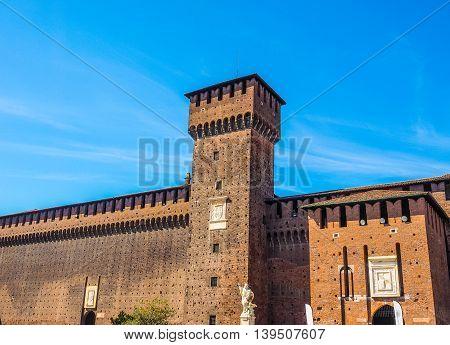 Castello Sforzesco Milan Hdr