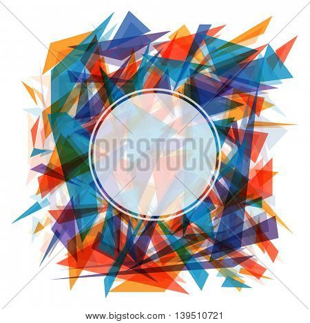 Colorful creative Abstract Background with blank frame, Vector Illustration.