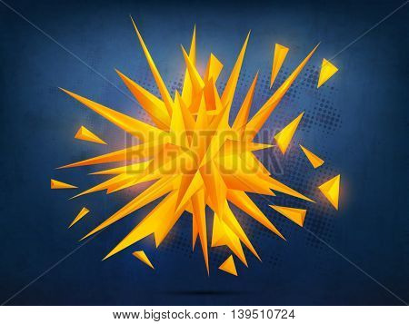 3D creative Abstract design decorated Background, Vector Illustration.