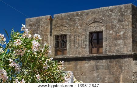 Greek house in Lindos town, Rhodes island