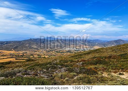 View of the valley in Greece island Rhodes