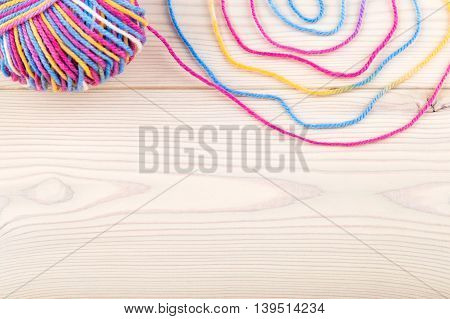 Colorful Thread And Bundle On Table