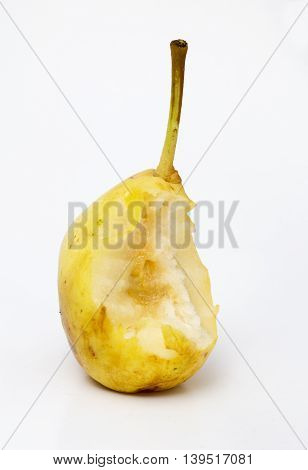 Picture of a Ripe Pear on white background