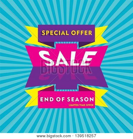 big end of season sale banner design vector