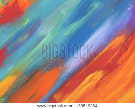 Abstract color acrylic painted background