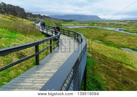Rift Valley In Thingvellir