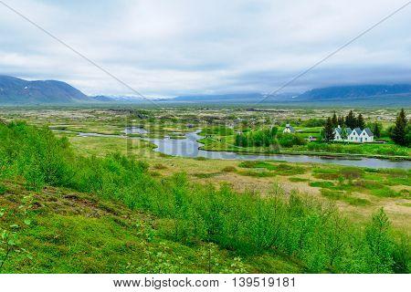 Rift Valley In Thingvellir