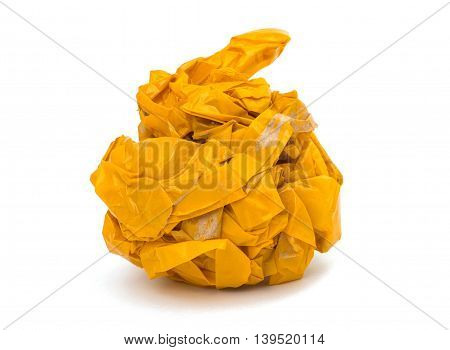 crumpled tape strip  tool on white background
