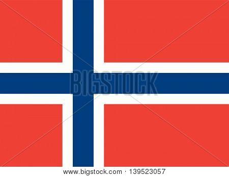 Vector Kingdom of Norway flag