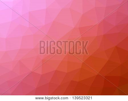 Red pink gradient polygon shaped background for professional use.