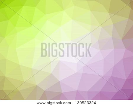 Green purple gradient polygon shaped background for professional use.