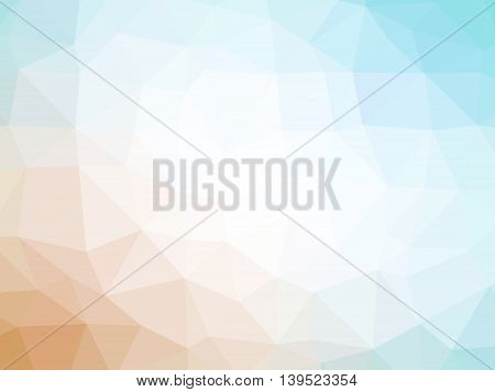 Orange, white and teal gradient polygon shaped background.