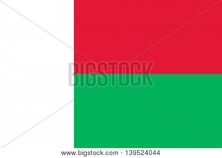 Vector Republic of Madagascar flag