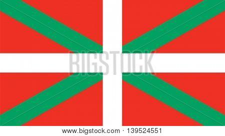 Vector Basque Country flag