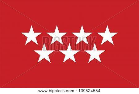 Vector Community of Madrid flag