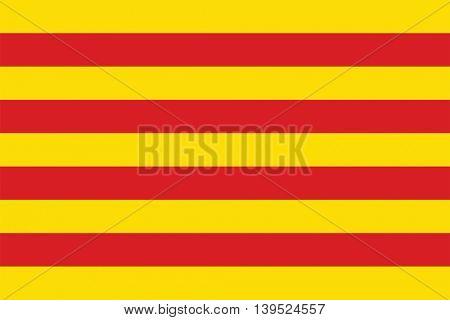 Vector Catalonia flag