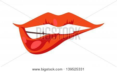 Female lips isolated on white background. Passion makeup mouth. Set woman lips romance cosmetic sensuality desire. Set of mouth smile woman red sexy woman lips isolated shape romantic print emotions