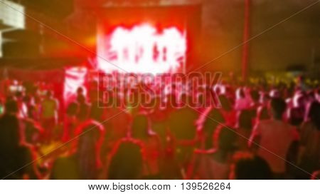 blurred stage and concert audience can be used as background