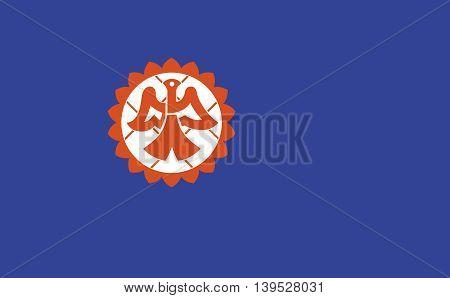 Japan Suita prefecture Osaka city flag illustration
