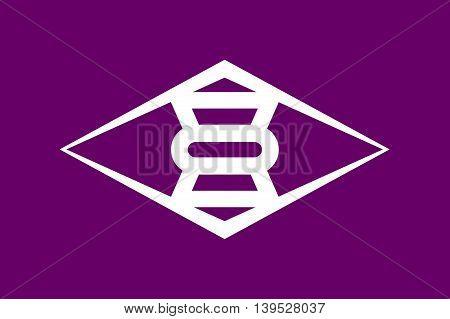 Japan Gunma prefecture Takasaki city flag illustration