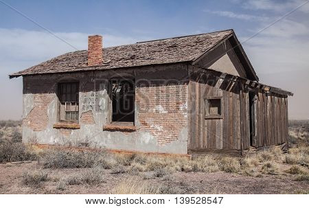Abandoned House in the Desert in New Mexico