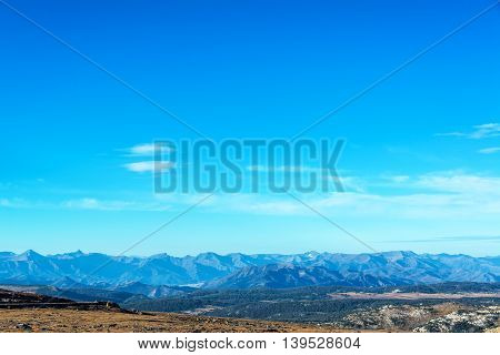 Beautiful Mountain Range Landscape