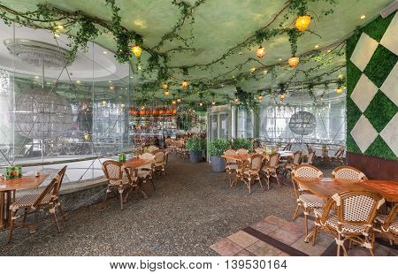 MOSCOW - JULY 2014: Chain home cooking restaurant