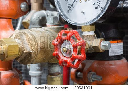 Industrial fire valve control system , Business safety .