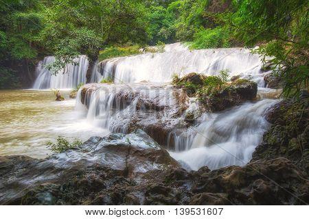 Rain forest Palatha Waterfall Umphang Tak ,Thailand.