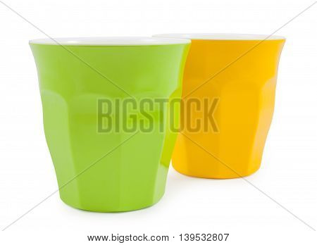 Green And Yellow Plastic Cup Crash