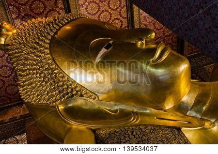 Wat Pho Temple Bangkok Thailand, October 21 : The Reclining Buddha At Wat Pho In Bangkok, Thailand.