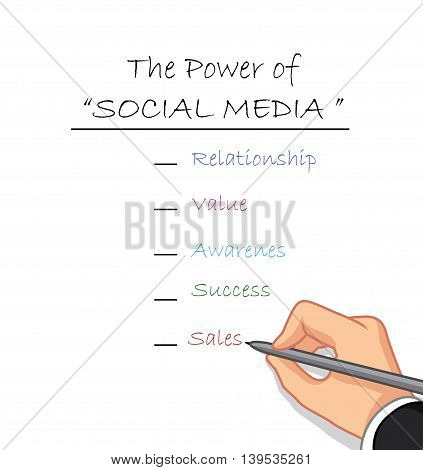 hand writing the power of social media