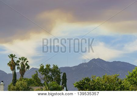 Super Big Smoke Over San Gabriel