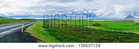 Panoramic View Of Lake Myvatn