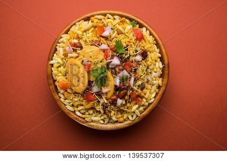 indian favourite chat or snack item Bhel or Bhelpuri