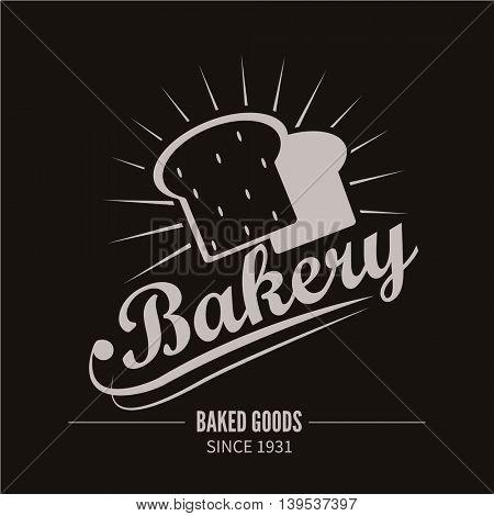 Bakery logotype. Bakery or bread shop vintage design element. Vector Illustration.