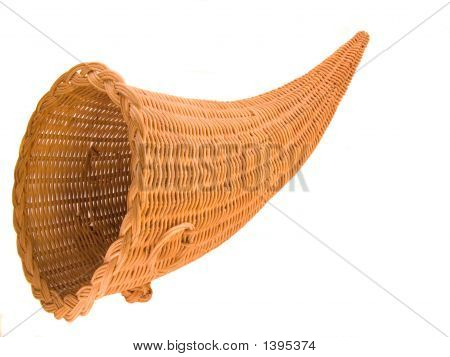 Wicker Cornucopia Basket