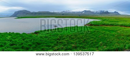Landscape And The Snaefellsjokull Volcano