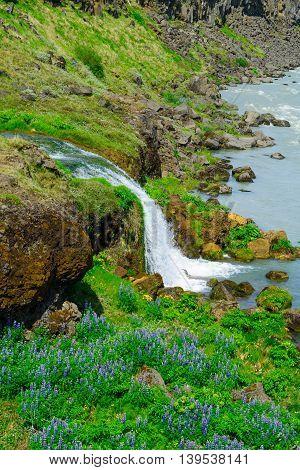 Urridafoss Waterfall, South Iceland