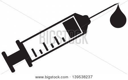 Syringe Icon Health injecting simplicity symbol medicine healthcare