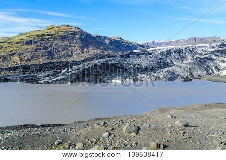 Solheimajokull Glacier, In South Iceland