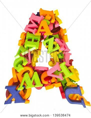the letter a made from magnetic letters