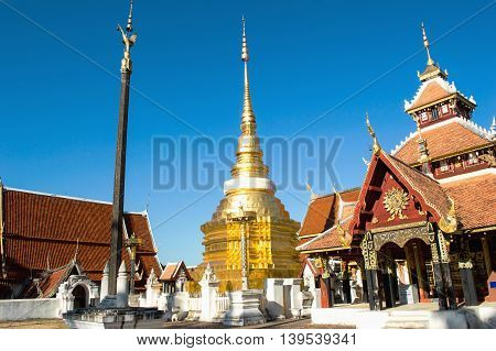wat Pong Sanook Northern in Asia Thailand