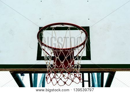 Basketball hoop on white background in Thailand asia