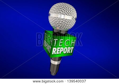 Tech Report New Innovation Product Update Technology Microphone 3d Illustration