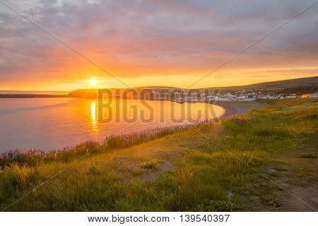 Sunset View Of Husavik