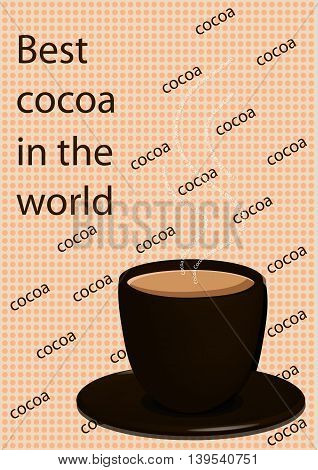 The booklet with the image of cocoa may be used as a picture on a box of food products or advertising