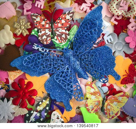 glitter Butterfly felt background