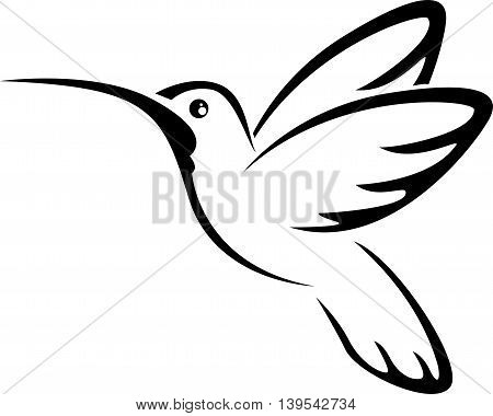 cute Tattoo humming bird for you design