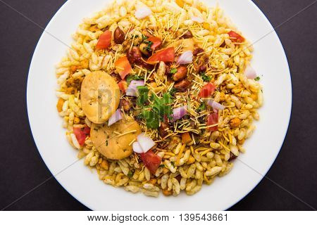 Bhel or Bhelpuri, famous indian roadside snack item